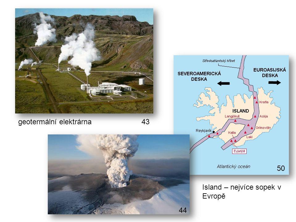 geotermální elektrárna Island – nejvíce sopek v Evropě 43 44 50