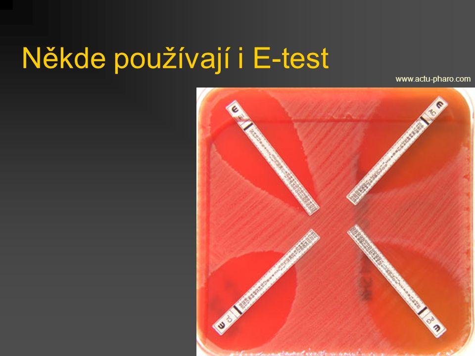 Někde používají i E-test www.actu-pharo.com