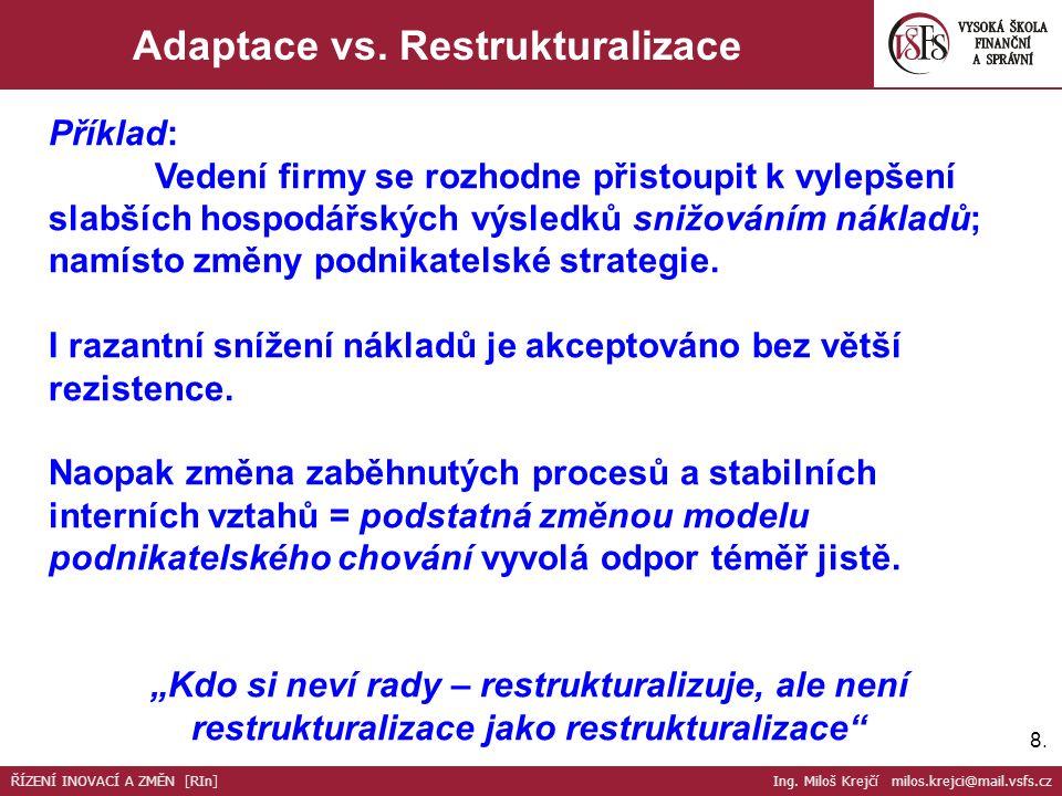 9.9.I vynikající strategie po čase ztrácí účinnost ŘÍZENÍ INOVACÍ A ZMĚN [RIn] Ing.