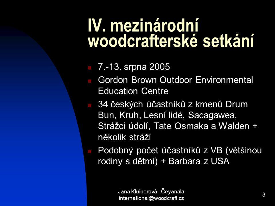 Jana Kluiberová - Čeyanala international@woodcraft.cz 3 IV.