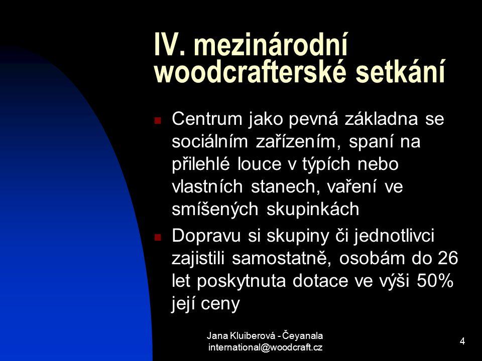 Jana Kluiberová - Čeyanala international@woodcraft.cz 4 IV.