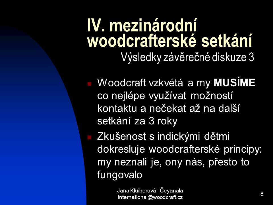 Jana Kluiberová - Čeyanala international@woodcraft.cz 8 IV.