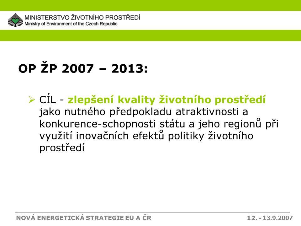 NOVÁ ENERGETICKÁ STRATEGIE EU A ČR 12.