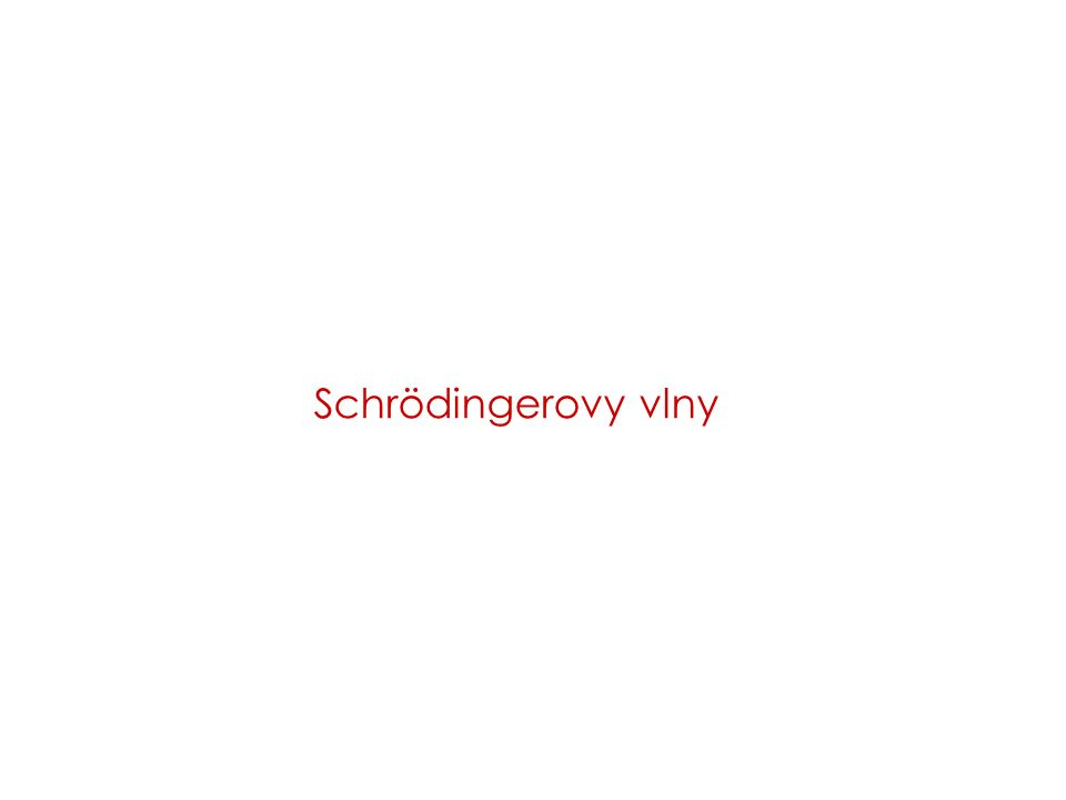 Schrödingerovy vlny