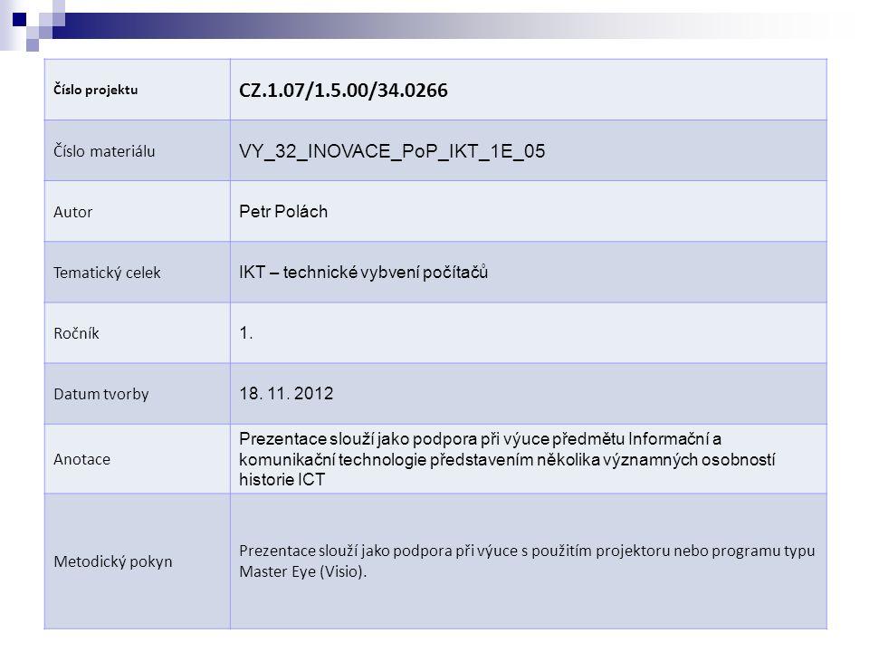 Obr.1 CHARLES BABBAGE (online). 4. 11.