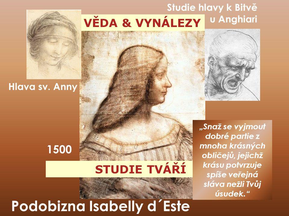 VĚDA & VYNÁLEZY STUDIE TVÁŘÍ Podobizna Isabelly d´Este 1500 Hlava sv.