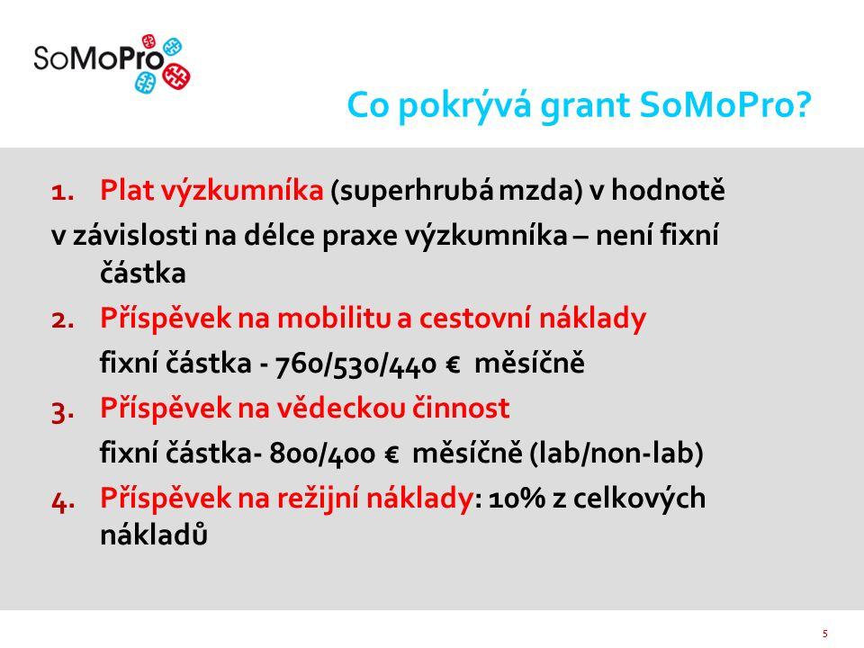 6 Udělování grantů  Granty jsou udělovány na základě otevřené soutěže o grant  Mezinárodní hodnotitelé  Koordinační výbor programu SoMoPro schvaluje seznam projektů doporučených k financování na základě vědeckého hodnocení  Smlouvy o poskytnutí dotace schvaluje Zastupitelstvo JMK