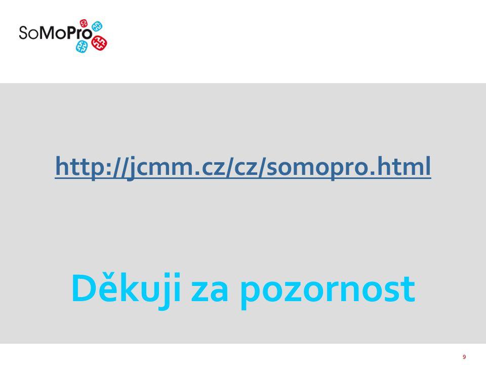9 http://jcmm.cz/cz/somopro.html http://jcmm.cz/cz/somopro.html Děkuji za pozornost