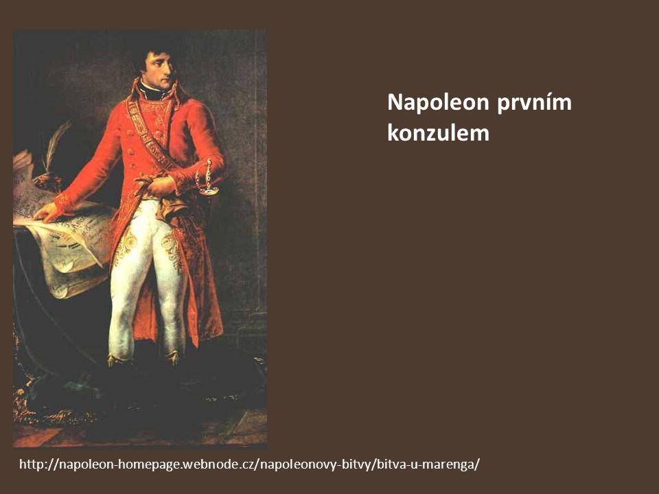 Napoleon prvním konzulem http://napoleon-homepage.webnode.cz/napoleonovy-bitvy/bitva-u-marenga/
