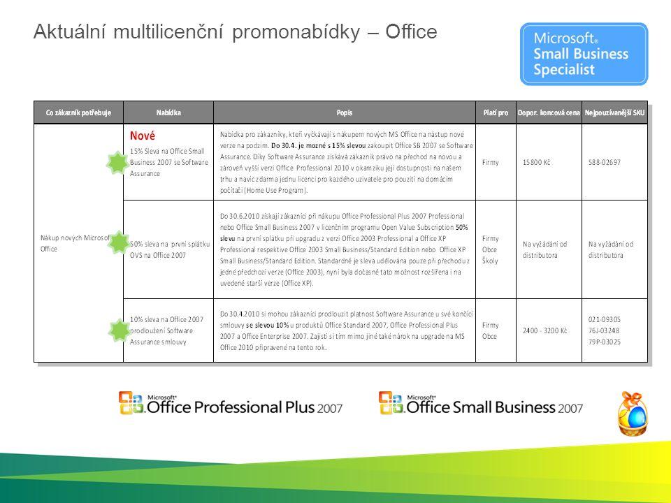 Aktuální multilicenční promonabídky – Office