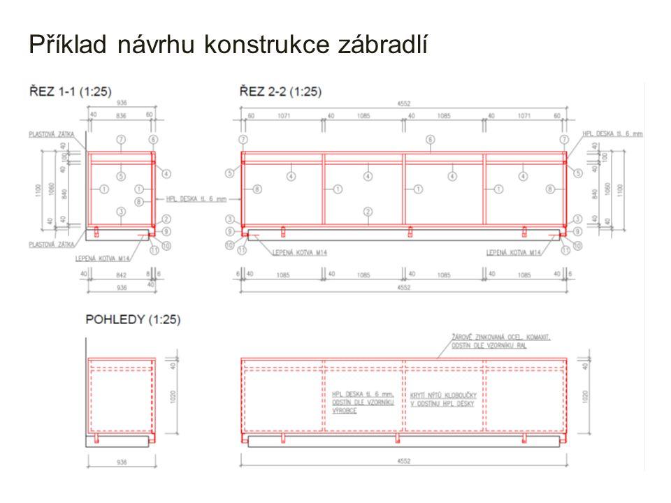 Příklad návrhu konstrukce zábradlí