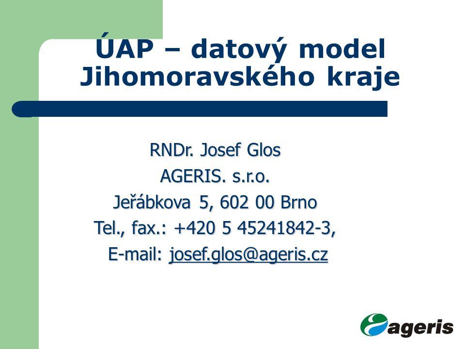 ÚAP – datový model Jihomoravského kraje RNDr. Josef Glos AGERIS.