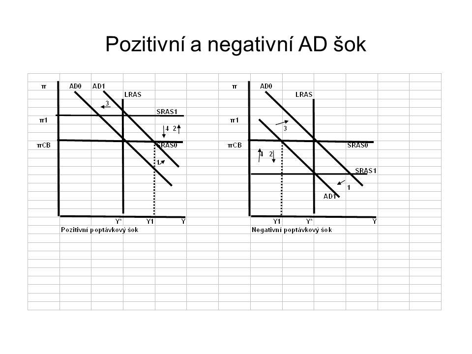 Pozitivní a negativní AD šok
