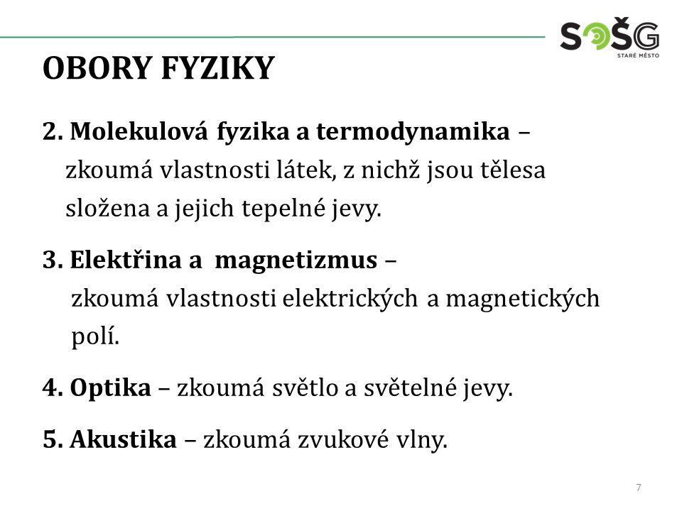OBORY FYZIKY 2.
