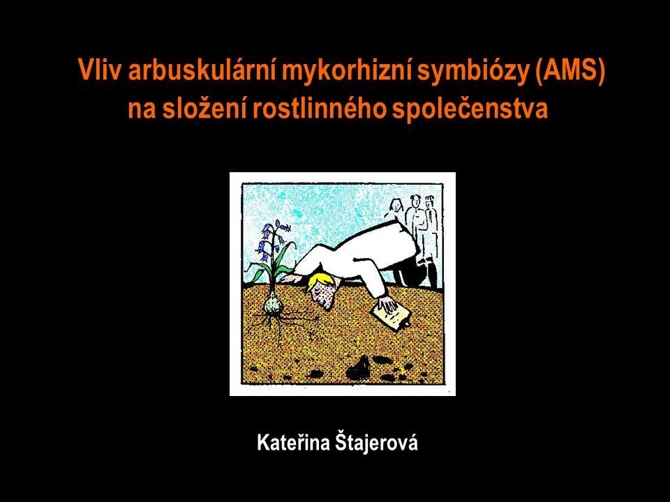 Vliv arbuskulární mykorhizní symbiózy (AMS) na složení rostlinného společenstva Kateřina Štajerová