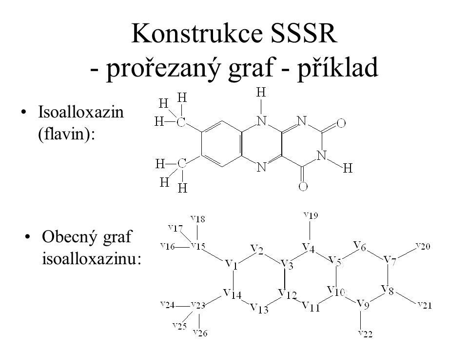 Konstrukce SSSR - prořezaný graf - příklad Isoalloxazin (flavin): Obecný graf isoalloxazinu: