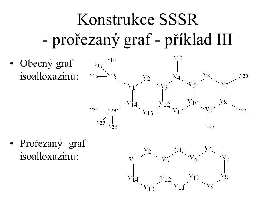 Konstrukce SSSR - prořezaný graf - příklad III Obecný graf isoalloxazinu: Prořezaný graf isoalloxazinu: