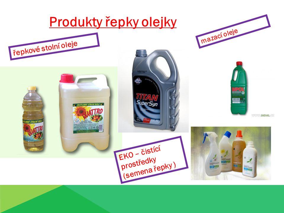 Produkty řepky olejky mazací oleje řepkové stolní oleje EKO – čistící prostředky (semena řepky )