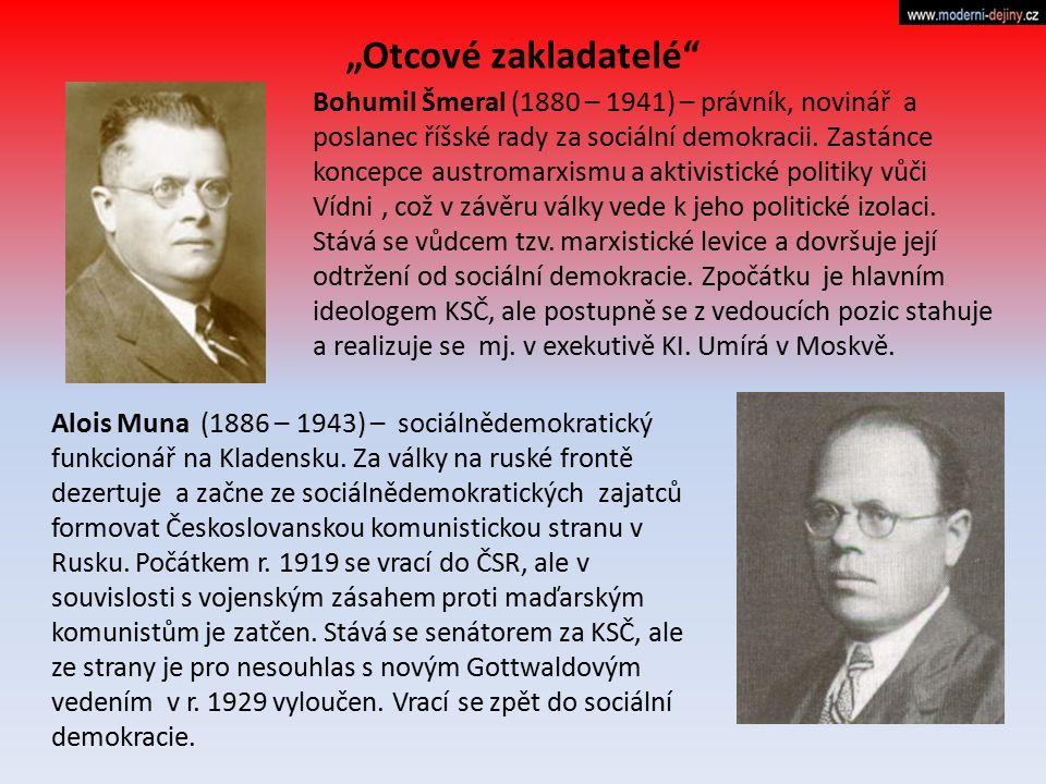 Bohumil Šmeral (1880 – 1941) – právník, novinář a poslanec říšské rady za sociální demokracii. Zastánce koncepce austromarxismu a aktivistické politik
