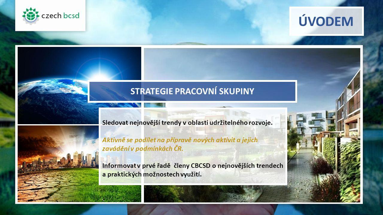 Cíle pracovní skupiny 1) shromažďovat metodické podklady a informace umožňující realizaci aktivit u podniků v oblasti udržitelnosti na úrovni odpovídající nejnovějším poznatkům 2) zapojit se do mezinárodních aktivit v prohlubování metodických postupů 3) zapojit do aktivit pracovní skupiny univerzity (diplomové práce, disertační práce, výzkumná činnost) s orientací na prohloubení metodických postupů v podmínkách České republiky 4) přispět k informovanosti členů (přednášky, semináře, elektronicky)