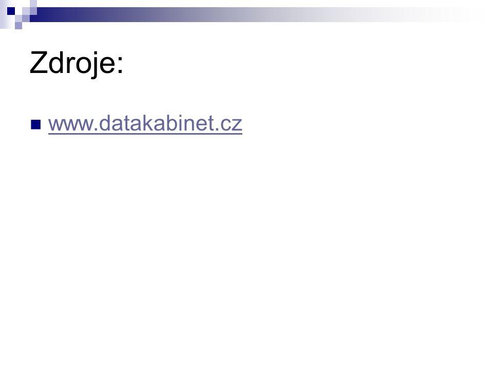 Zdroje: www.datakabinet.cz