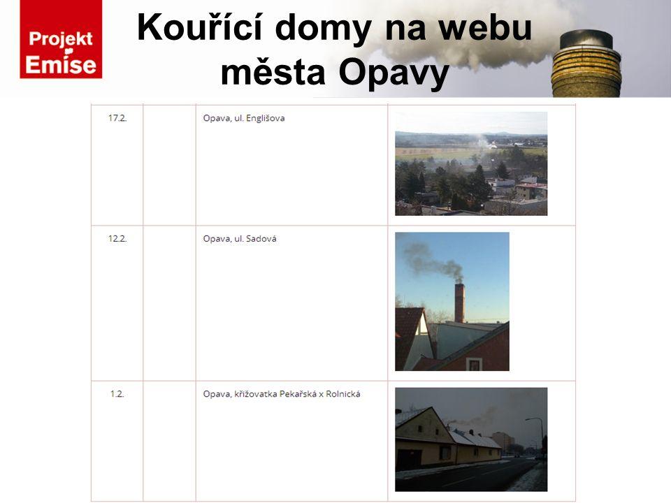 Kouřící domy na webu města Opavy