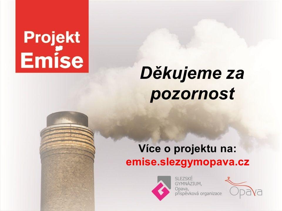Děkujeme za pozornost Více o projektu na: emise.slezgymopava.cz