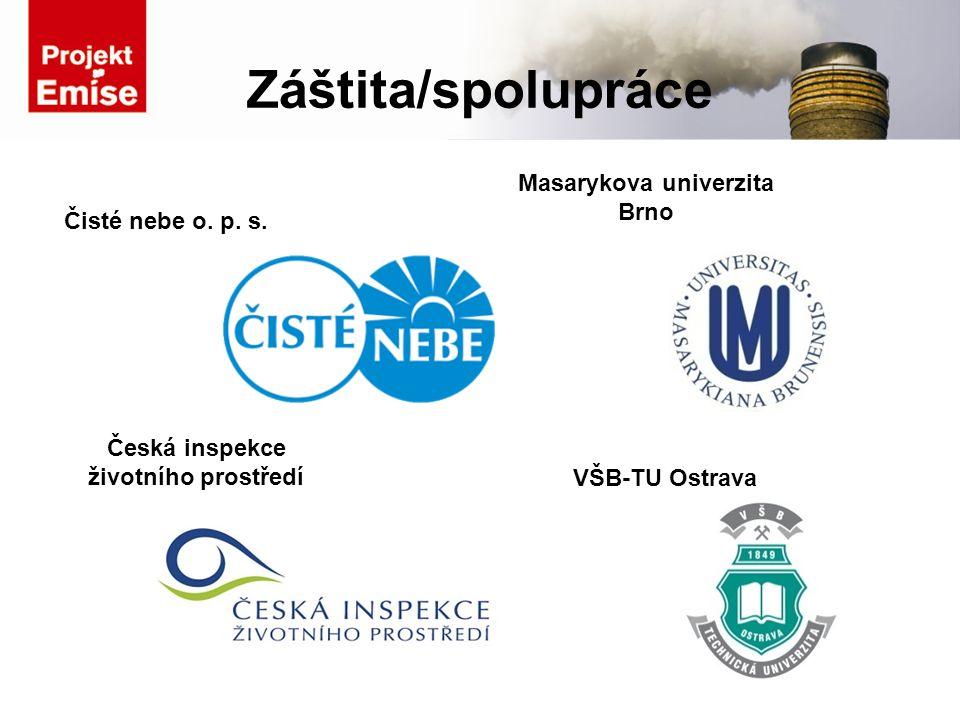 Záštita/spolupráce Čisté nebe o. p. s. Masarykova univerzita Brno VŠB-TU Ostrava Česká inspekce životního prostředí