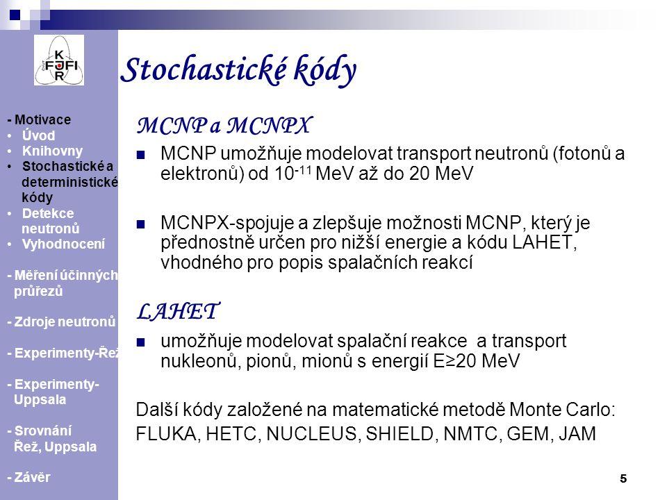 16 - Motivace Úvod Knihovny Stochastické a deterministické kódy Detekce neutronů Vyhodnocení - Měření účinných průřezů - Zdroje neutronů -Experimenty-Řež - Experimenty Uppsala - Srovnání Řež, Uppsala - Závěr Experimenty v Uppsale  únor 2010, červen 2008  energie protonových svazků 25, 50, 100 MeV (červen 2008); 62, 70, 80 a 93 MeV (únor 2010)  doba ozařování kolem 8h.,ozařované fólie: Au, Bi, In, Al, Ta, Co, Y a vzorek s I  doba transportu fólií asi 2 minuty