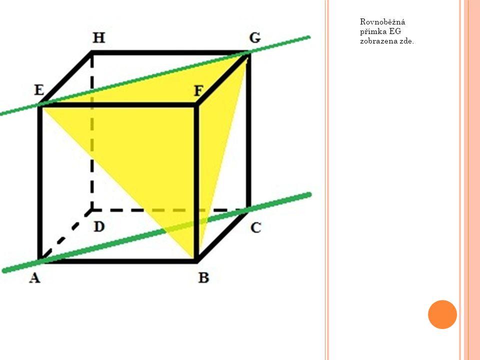 Rovnoběžná přímka EG zobrazena zde.
