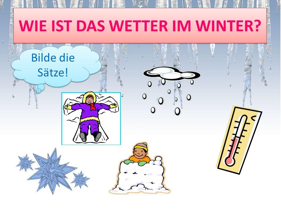 WIE IST DAS WETTER IM WINTER? Bilde die Sätze!