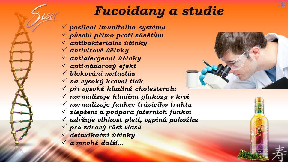 Fucoidany a studie posílení imunitního systému působí přímo proti zánětům antibakteriální účinky antivirové účinky antialergenní účinky anti-nádorový