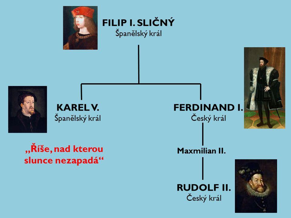 FILIP I. SLIČNÝ Španělský král KAREL V. Španělský král FERDINAND I.