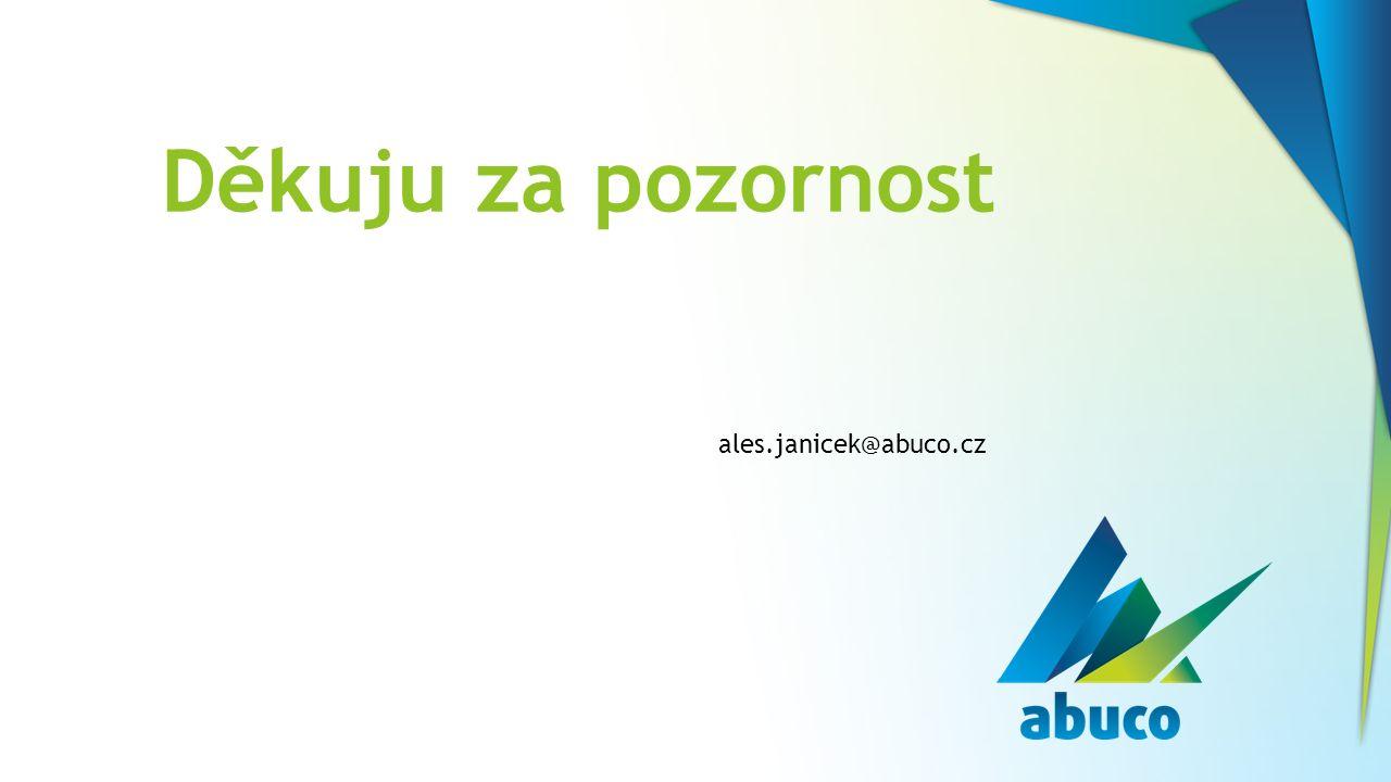 Děkuju za pozornost ales.janicek@abuco.cz