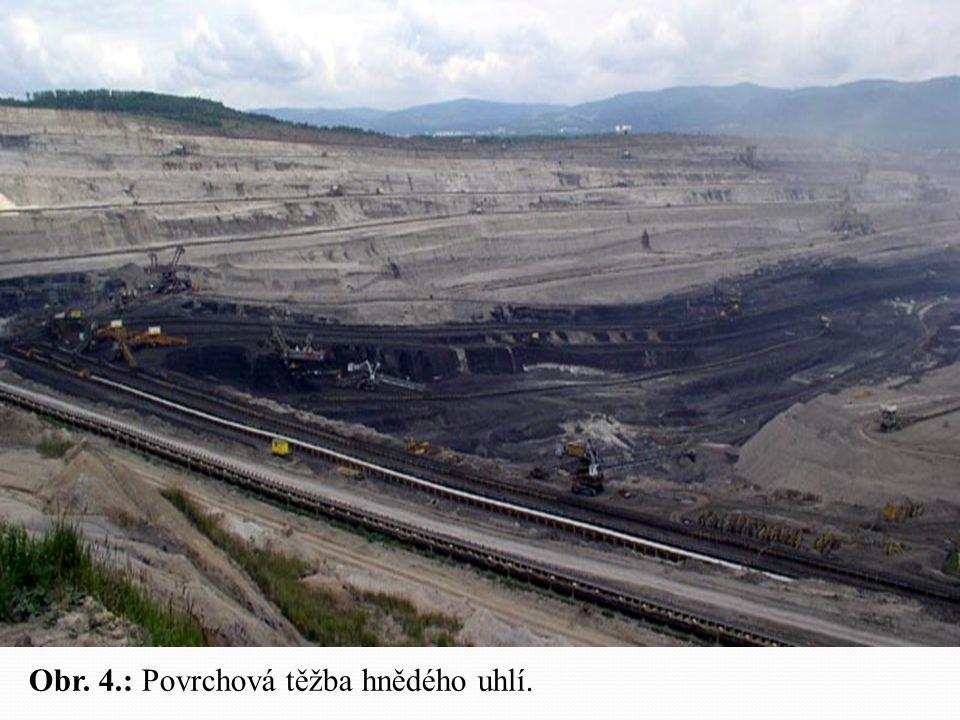 Obr. 4.: Povrchová těžba hnědého uhlí.