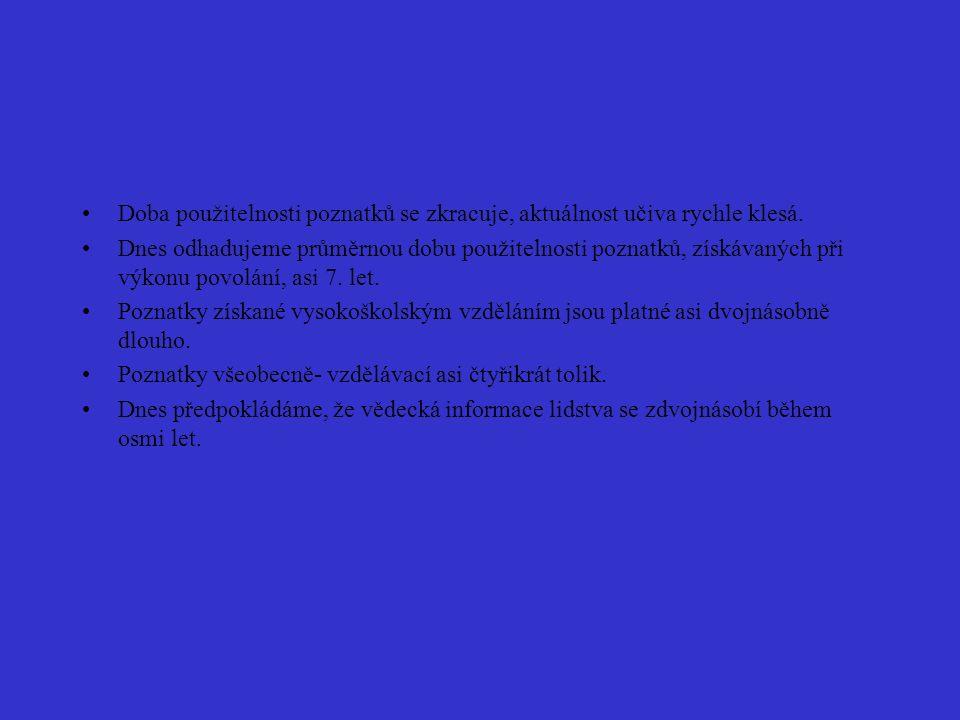 Kurikulární reforma Nahrazení učebních osnov vzdělávacími programy (Rámcové vzdělávací programy).