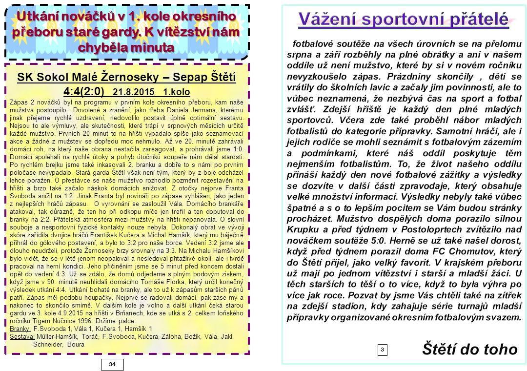 Pokračování zápasu SK Štětí-TJ Krupka 22.8.15 1423 si hodně oddechli, když musel pohotově proti střele Rilkeho zasahovat Kloub v brance.