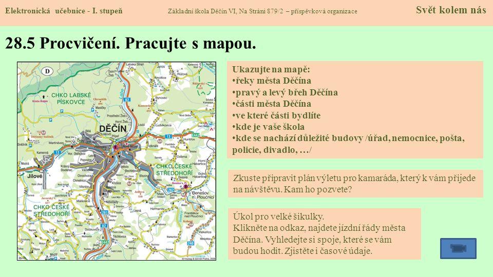 28.5 Procvičení.Pracujte s mapou. Elektronická učebnice - I.