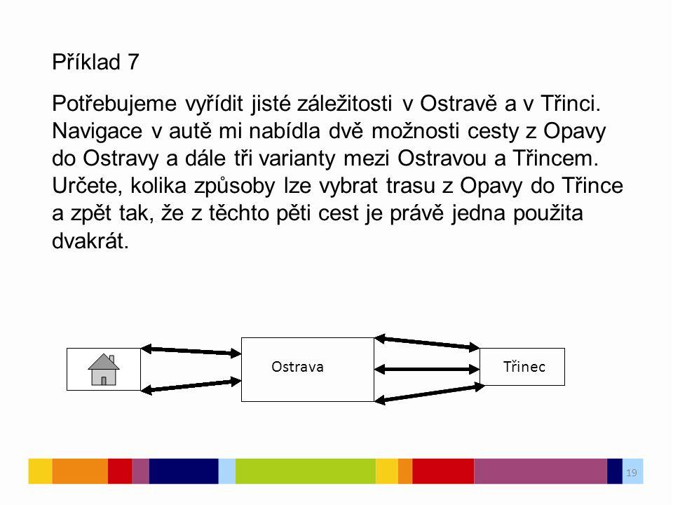 19 Příklad 7 Potřebujeme vyřídit jisté záležitosti v Ostravě a v Třinci.