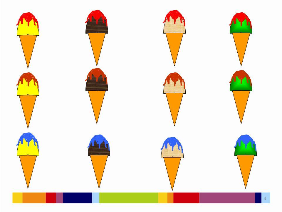 4 Ke každému ze čtyř druhů zmrzliny můžeme přiřadit jednu ze tří polev.