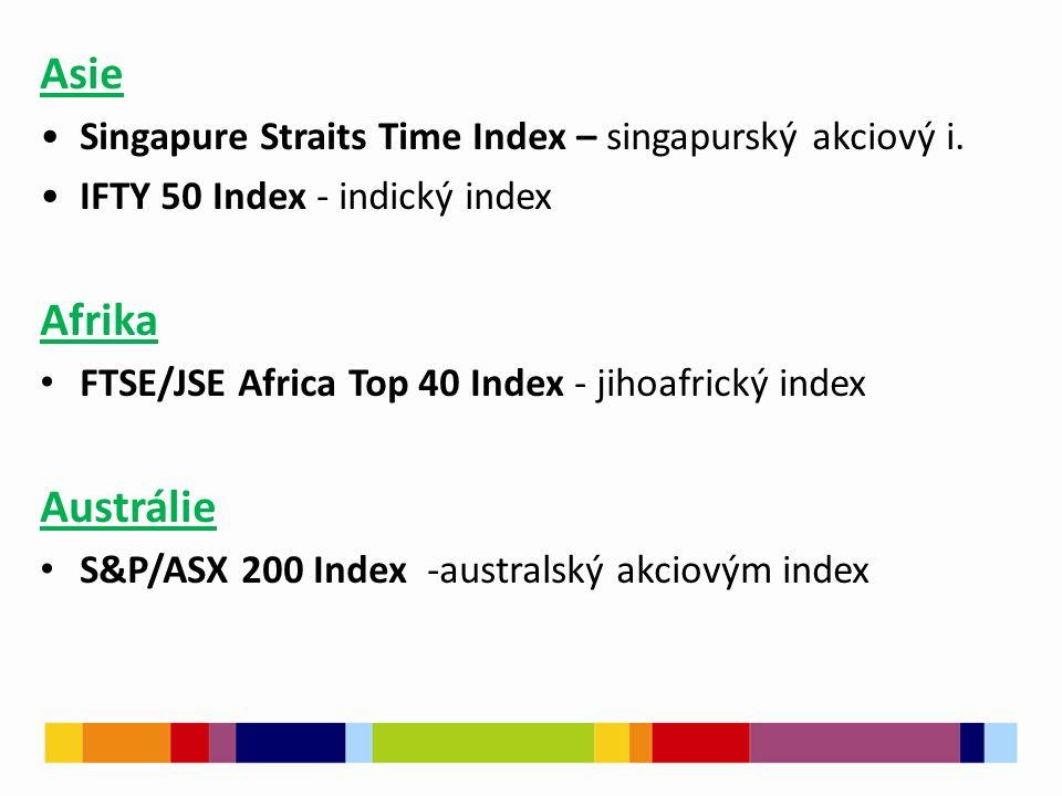 Asie Singapure Straits Time Index – singapurský akciový i.