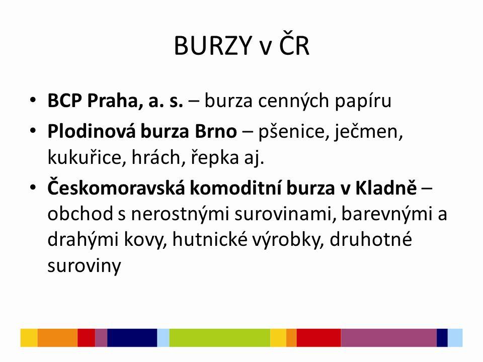 BURZY v ČR BCP Praha, a. s.