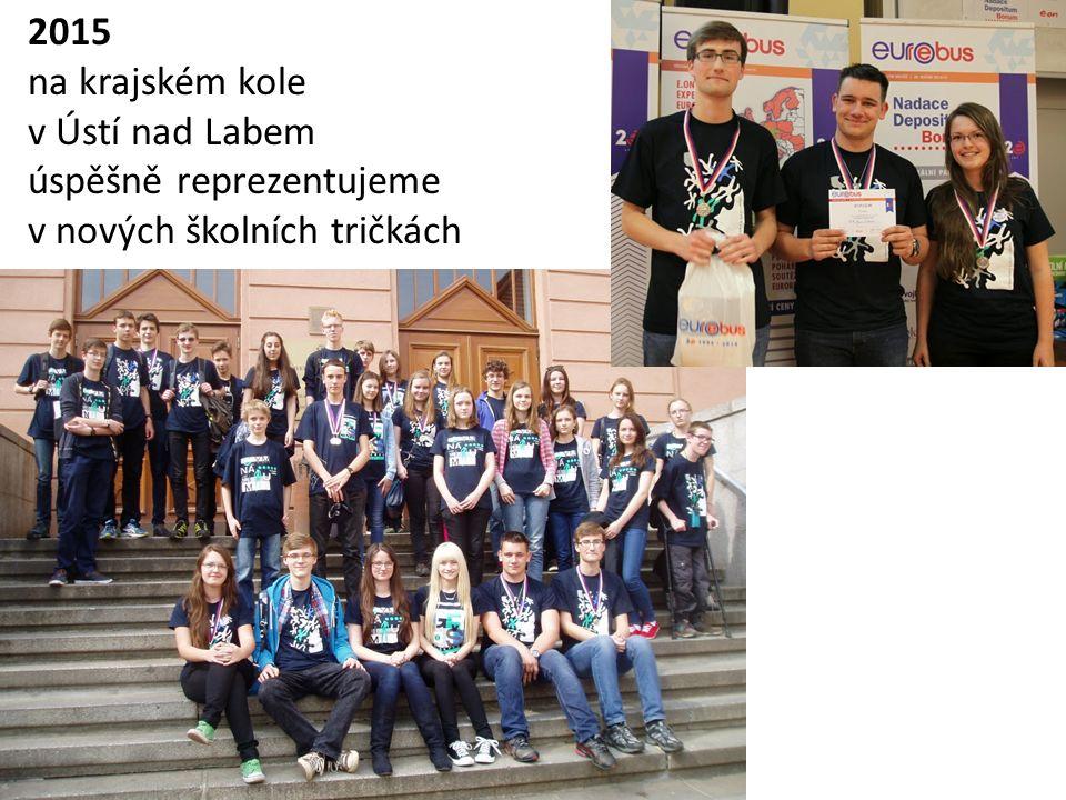 2015 na krajském kole v Ústí nad Labem úspěšně reprezentujeme v nových školních tričkách