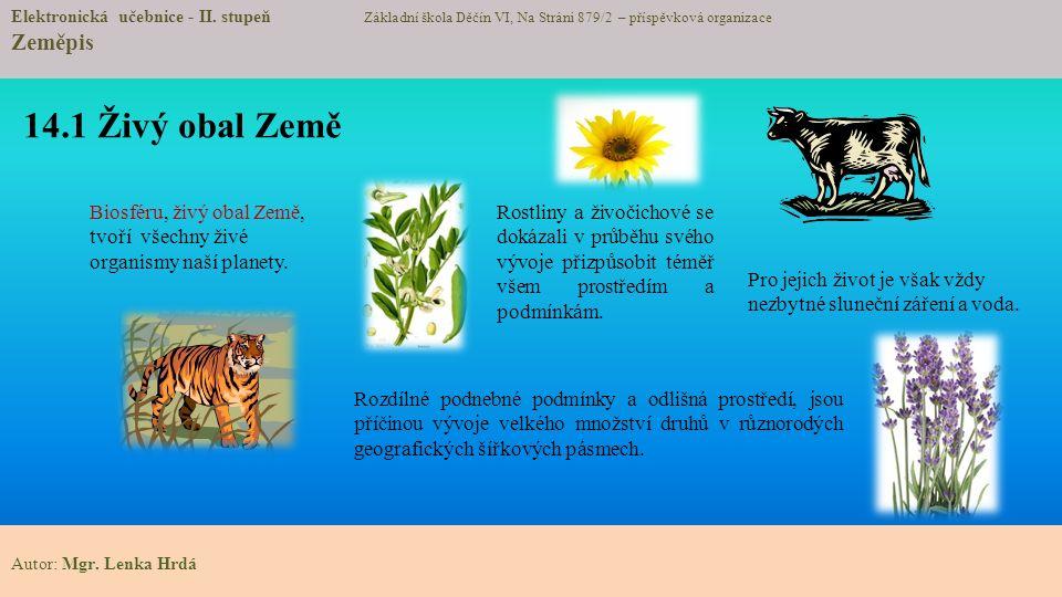 14.1 Živý obal Země Elektronická učebnice - II.