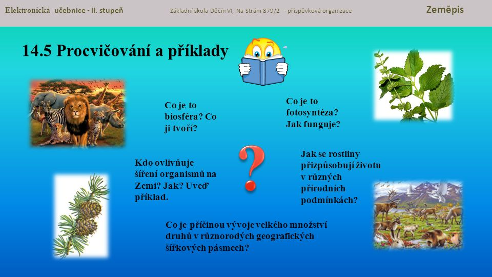 14.5 Procvičování a příklady Elektronická učebnice - II.