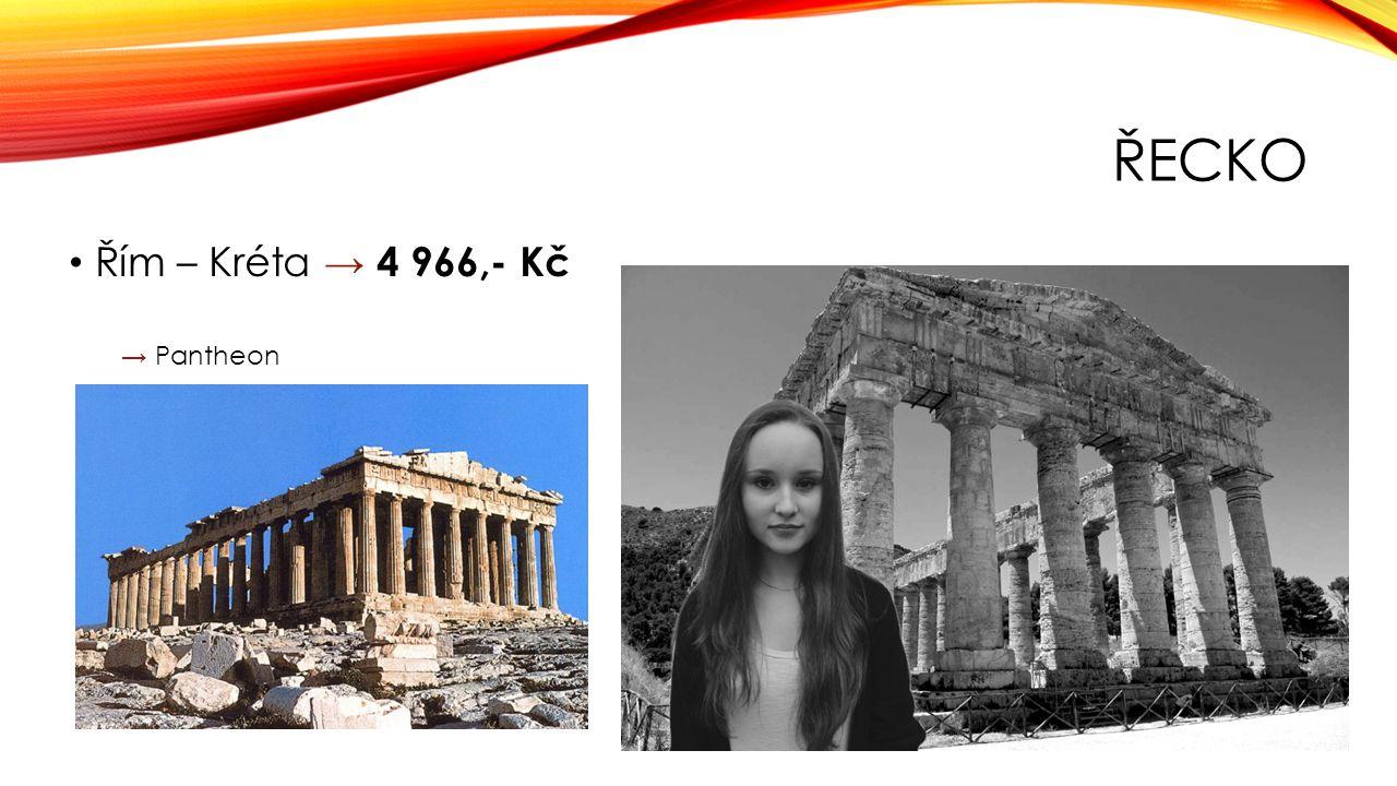 ŘECKO Řím – Kréta → 4 966,- Kč → Pantheon