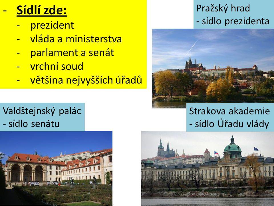 Prahou protéká řeka Vltava. Přes řeku je mnoho mostů – nejznámější je Karlův most.