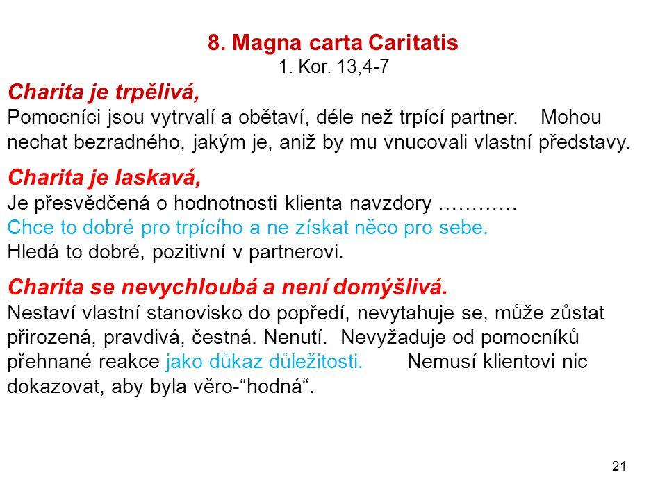 8.Magna carta Caritatis 1. Kor.
