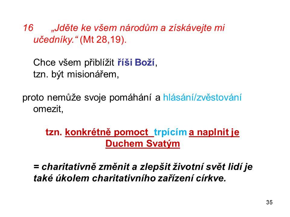 """16""""Jděte ke všem národům a získávejte mi učedníky. (Mt 28,19)."""
