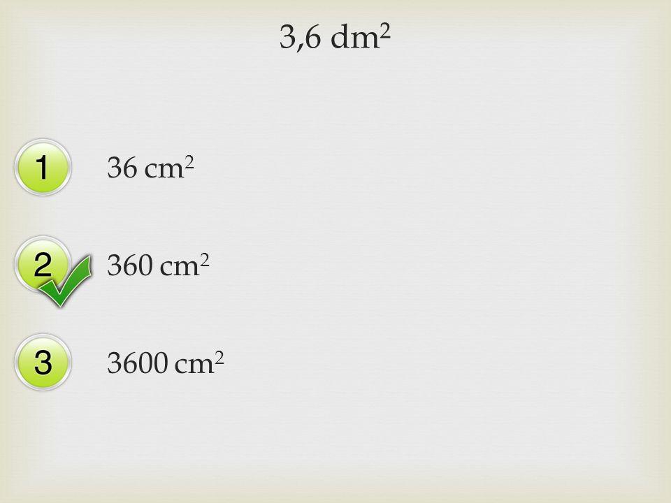 3,6 dm 2 36 cm 2 360 cm 2 3600 cm 2